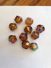 10 8mm Facetted Glass Honey Topaz AB FINISH Beads L@@K SALE # 20