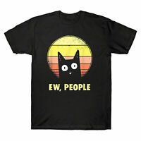 Ew, People Vintage Funny Cat Lover Men's T-Shirt Graphic Gift Short Sleeve Tee