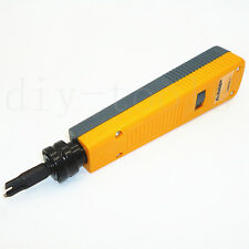 Crimper RJ45 RJ11 Cat5e Network PC Cable Punch Down Impact Tool 110 Blade