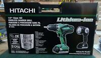 Hitachi 18V Li-On Drill and Light Kit DV18DGL, New in Box