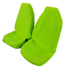 NEW Pair Throw Over Fluro Green Universal Slip On Seat Cover, Free Shipping AU