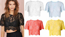Semi Fitted Lace Floral Vest Top, Strappy, Cami Women's Tops & Shirts