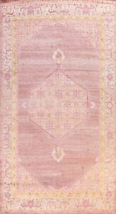 Geometric Oushak Oriental Area Rug Vintage Style Hand-knotted Wool Carpet 10x14