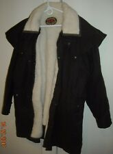 AUSTRALIAN OUTBACK COLLECTION OILSKIN DUSTER W/ REMOVABLE WOOL LNR Coat Mens XXL