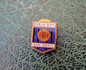 PIN SPILLA CALCIO - CARLIN BOYS SANREMO - SAN REMO - VINTAGE