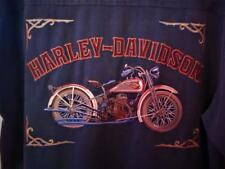 HARLEY DAVIDSON SHIRT VINTAGE W EMBROIDERY!BIKERS DREAM!SIZE M!100% SILK