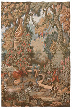 """RRA 34"""" x 38"""" Statue in the Garden Tapestry Gobelin 2609"""
