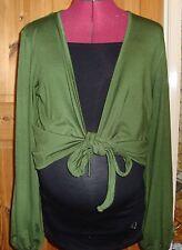 BNWT MATERNITY Ladies Olive Green Long Sleeved Shrug Cardigan Size M - 12-14