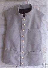 Confederate Jean Wool Vest, Gray/Brown, New, Civil War