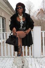 New Designer Custom made Sable brown color mink fur  evening bag handbag bag os