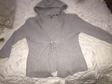 Knitted and Knotted Anthropologie  Waffle Knit Hoodie Size Medium Open Front