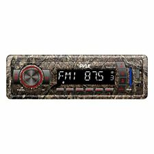 Camo Stereo Radio Headunit Receiver, Bluetooth Wireless Streaming, Single DIN