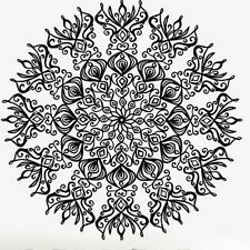 Mandala Wall Sticker Indian Floral Design Sun Flower Decal Yoga Symbol Mural K