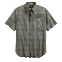 Harley-Davidson Men's Over-Dyed Plaid Short Sleeve Woven Shirt - 96540-19VM