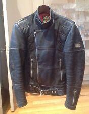 Vintage Cafe Racer Motorcycle Black Leather Jacket