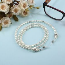 Acrylic Pearl Bead Eyeglass Sunglass Cord Neck Strap String Chain Link Holder KZ