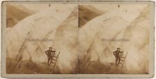FRANCE Alpiniste Escalade Bossons Chamonix c1900 Photo Stereo Vintage