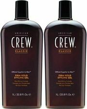 2 BOTTLES - American Crew Firm Hold Styling Gel - 33.8oz / 1L EACH