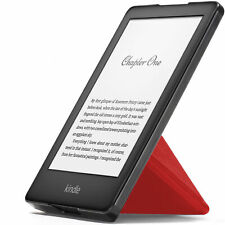 Kindle 2019 Case | Smart Cover Origami Stand Slim Light | Red + Stylus Protector