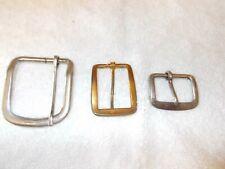 """3 Vintage Metal Buckles 2 1/4"""", 2"""", 1 1/4"""""""