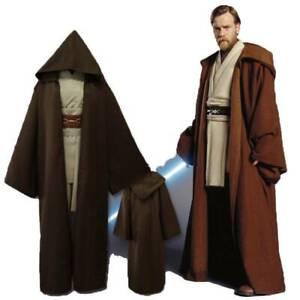 Adult Men Cosplay Costume Star Wars Jedi Obi-wan Kylo Ren Robe Cape Hooded Cloak