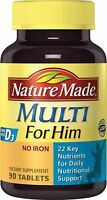 Nature Made Men's Multivitamin Tablets w/Vitamin D3 90 Count