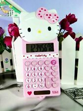 New Cute Stretch HelloKitty Basic Electronic Calculator 8 Digitals AA518a3 Pink