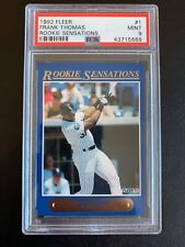 1992 Fleer Rookie Sensations Frank Thomas PSA 9 MINT HOF! Rare Card In 9!