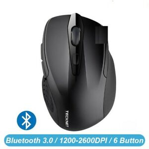 Wireless Mouse 1200 1600 2000 2600DPI Two AAA Battery PC Laptop Bluetooth Mice