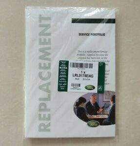 GENUINE LAND ROVER AND RANGE ROVER REPLACEMENT SERVICE BOOK