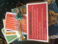 Chakra Affirmation Cards ~Positive words~Pretty Gift Bag Christmas Birthday
