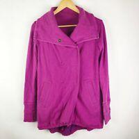 Lululemon Gratitude Wrap Sweater Jacket Heathered Raspberry Size 4 RARE!