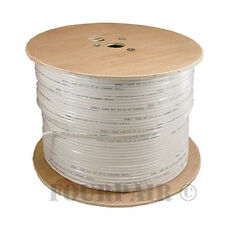 Rg6 3Ghz Solid Bare Copper Coaxial Coax Cable Hdtv Satellite Tv 1000Ft - White
