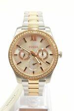 Fossil ES4373 Scarlette Silver Dial Two-Tone Glitz Chronograph Ladies Watch