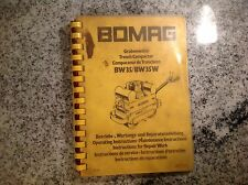 BOMAG Operating maintenance Manual bw/35 bw/35w trench compactor