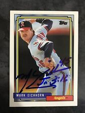 1992 Topps #435 Mark Eichhorn Autograph Signed Angels