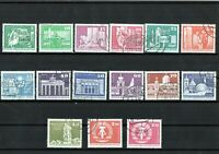DDR - Briefmarkensatz - Sozialistischer Aufbau - Großformat - 15 Werte
