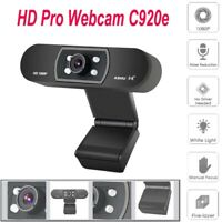 H800 HD 1080P Webcam No Driver Needed Optical Glass Lens Suit for Desktop Laptop