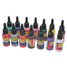 1set Profi 14 Farben Tattoofarbe INK Set Tattoo Farbe Tätowierfarbe 15ml Trend