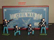 Britains 49027 GUERRA CIVILE AMERICANA Unione FANTERIA metallo giocattolo soldato Figure Set