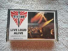 "LOUDNESS ""LIVE LOUD ALIVE"" CASSETTE RARE MEGATON LABEL DUTCH IMPORT"