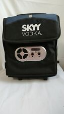 Rolling Ice Chest Cooler Skyy Vodka Collapsible Radio Speakers NWT 32 Can size
