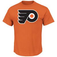 NHL T-Shirt Philadelphia Flyers Tek Petch Logo Majestic Ice Hockey