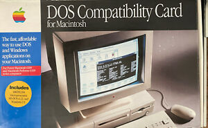 Vintage 1994 DOS Compatibility Card for Macintosh Box, Disks & Manuals Only