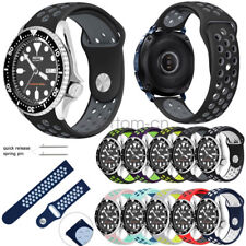 20mm 22mm Lug width Soft Silicone Sport Watch Band Strap for Seiko Diver's Watch