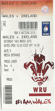 Wales v Ireland Six Nations 14 Mar 2015 RUGBY TICKET