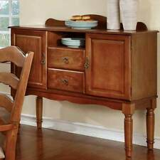 Spring Creek Kitchen Dining Side Server Buffet Cabinet Table Wood Country Oak