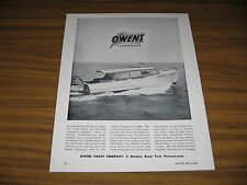 1950 Print Ad Owens Flagships Cabin Cruiser Boats Made in York,PA