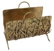 New Neiman Marcus Italian Gold Branch Fireplace log holder HORCHOW screen avail