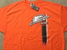 Harley Davidson Screamin Eagle Tire Track Orange Shirt Nwt Men's XXL